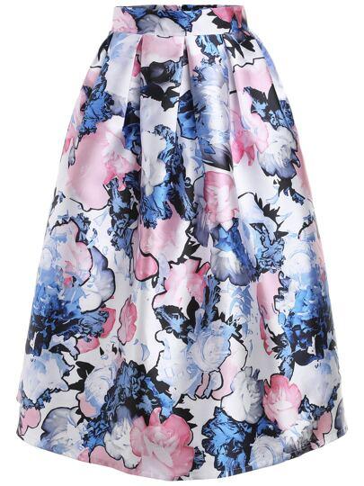Florals Skirt With Zipper