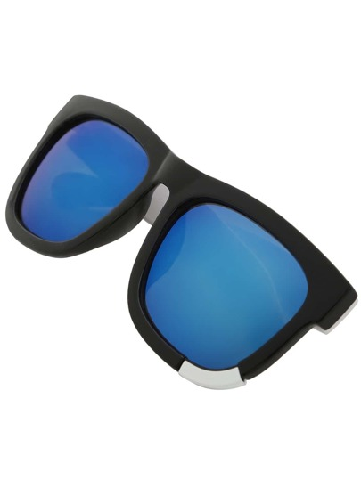 Contrast Thick Arms Classic Sunglasses