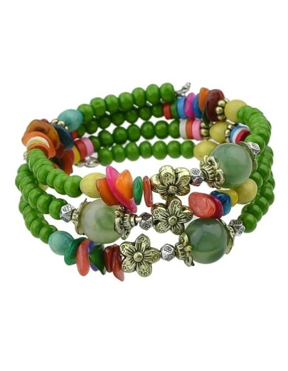 Green Lucky Bead Bracelet