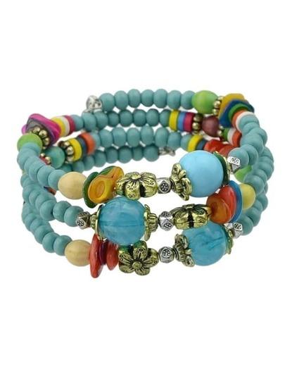 Blue Lucky Bead Bracelet