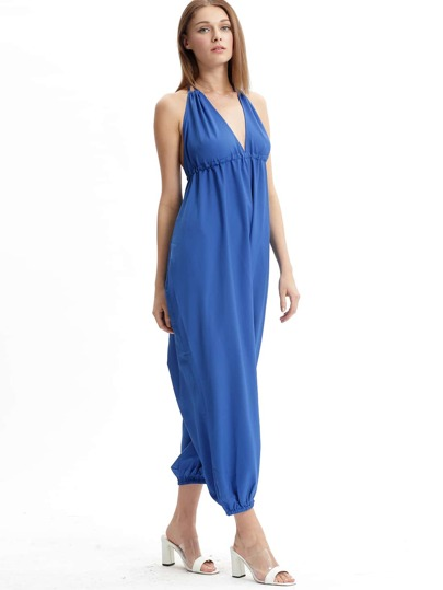 Halter Open Back Oversized Jumpsuit