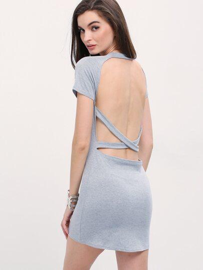 Cutout Crisscross Back T-shirt Dress