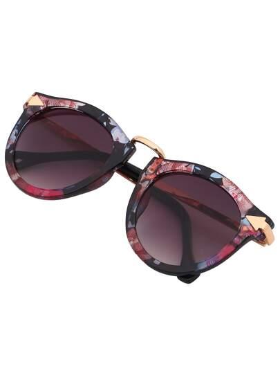 Gafas de sol marco metálico plástico -multicolor