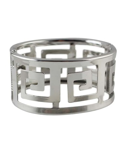 Silver Plated Wide Bangle