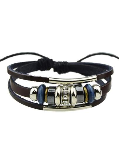Pu Leather Adjustable Bracelet