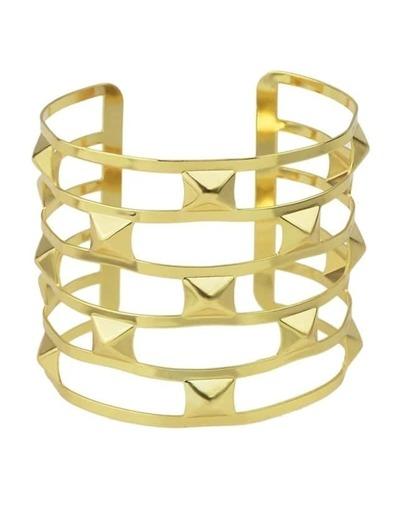 Gold Plated Wide Cuff Bracelet