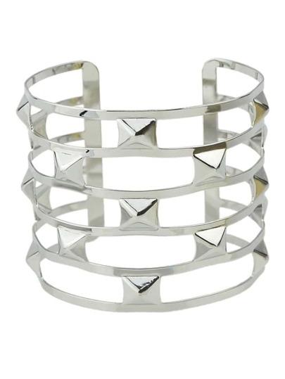 Silver Plated Wide Cuff Bracelet