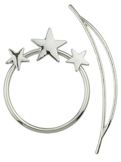 Silver Star Circle Geometric Hairwear