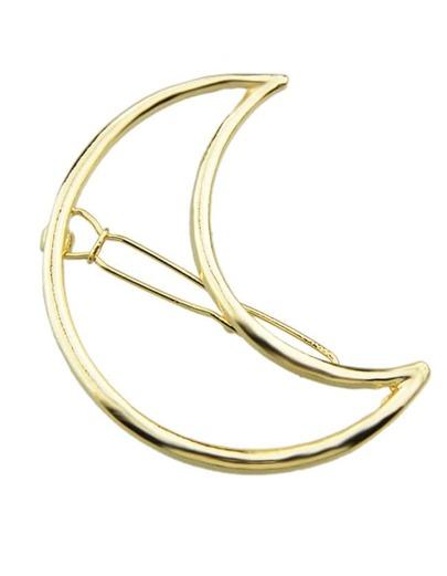 Gold Geometric Moon Design Hairwear