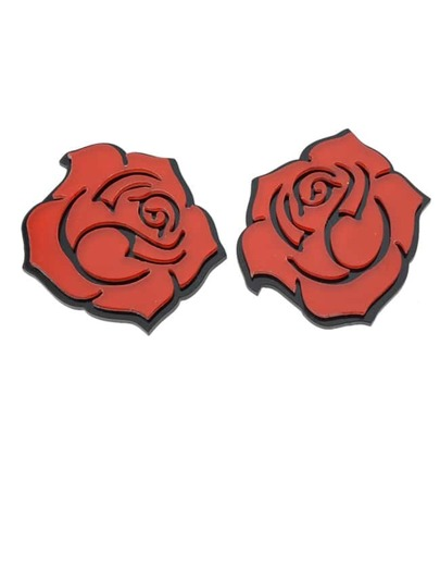 Acrylic Made Rose Flower Earrings