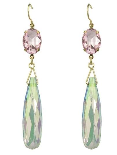 Beautiful Crystal Long Drop Earrings