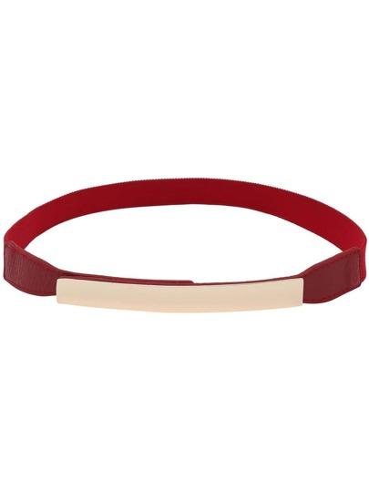 Metal Plate Red Elastic Belt