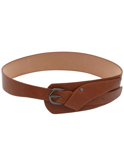Buckled Brown Wrap Belt