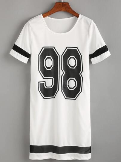 98 Print Straight T-Shirt Dress
