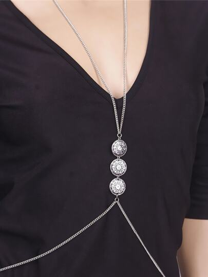 Silver Plated Sexy Body Chain