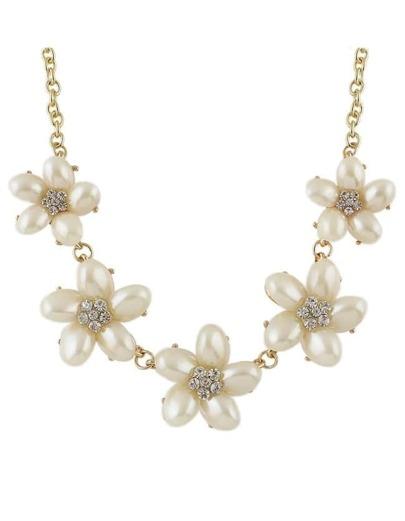 Pearl Flower Women Necklace