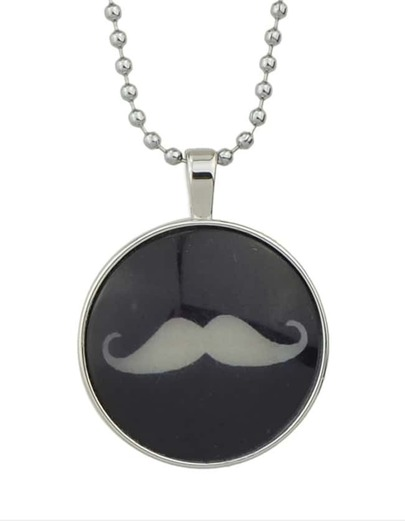 Simple Mustache Round Pendant Necklace