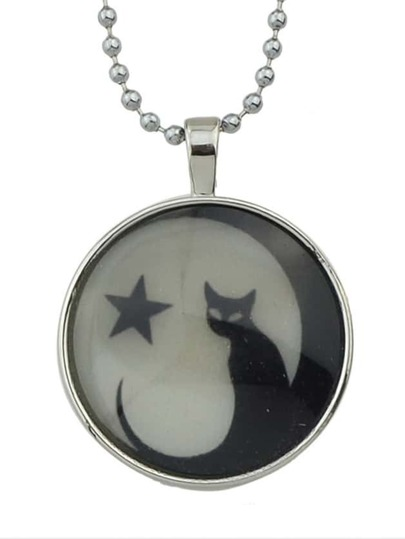 Round Plain Pendant Necklace