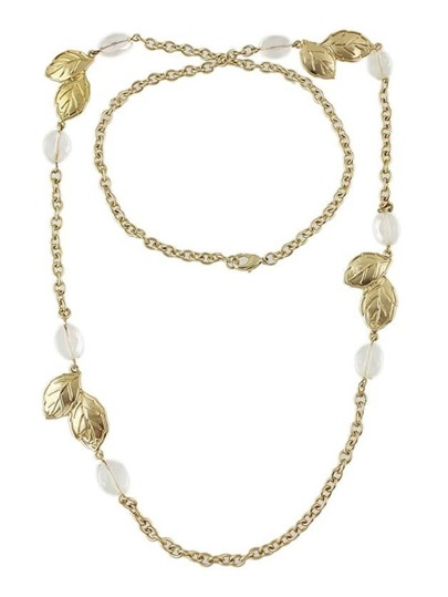 Gold Plated Rhinestone Chain Necklace