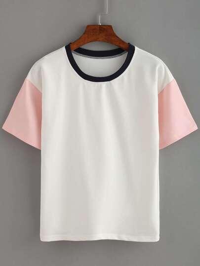 T-shirt col rond manche courte