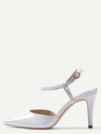 أحذية كعب عالي أساسية -بيضاء