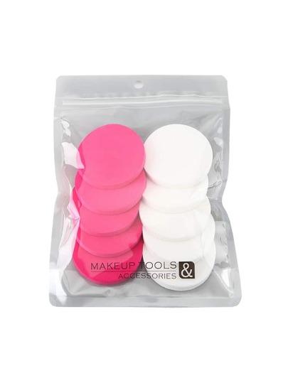 10pcs esponja de maquillaje redonda