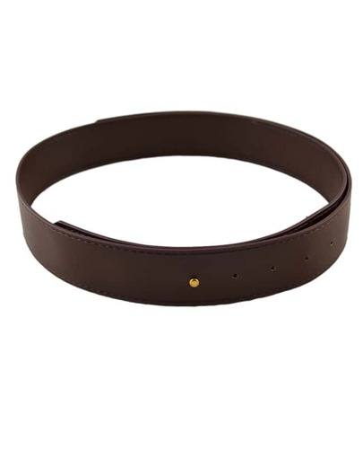 Coffee Pu Leather Wide Waist Belt