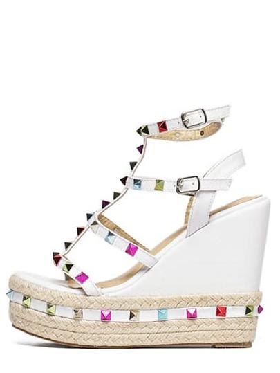 Sandales à semelle avec clous multicolore