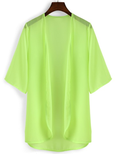 Elbow Sleeve Chiffon Shirt