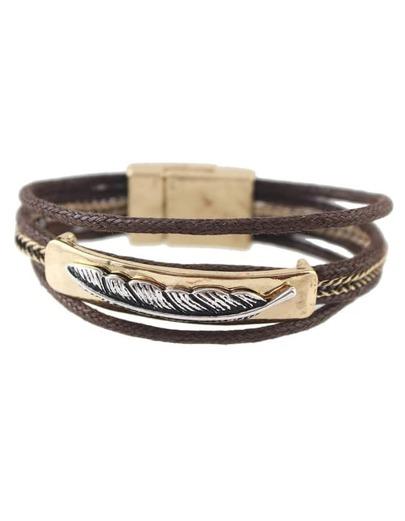 Gold Multilayers Braided Magnetic Bracelet