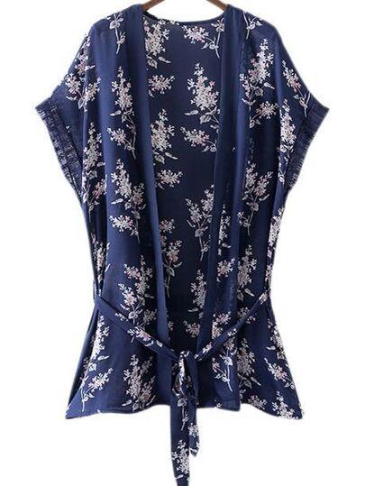 Kimono lazo flores -multicolor