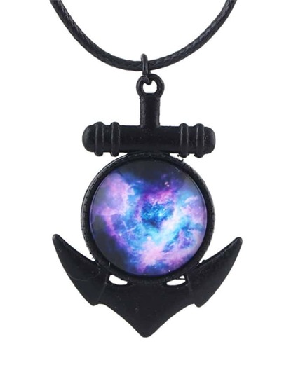 Purple Sky Pattern Pendant Necklace