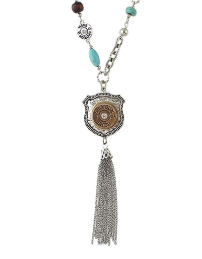 Silver Plated Tassel Pendant Necklace