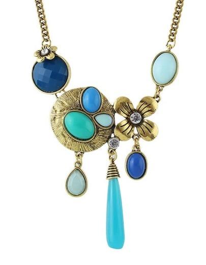 Blue Gemstone Women Necklace