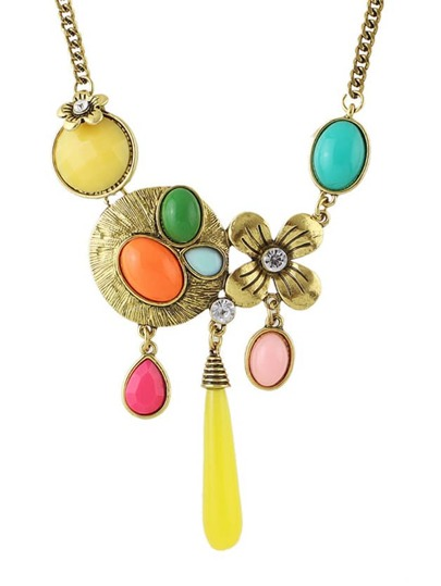 Yellow Gemstone Women Necklace