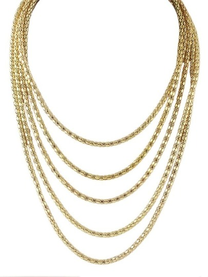 Multilayers Long Chain Necklace