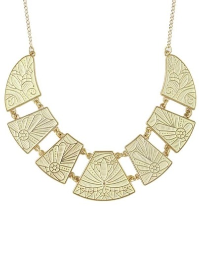 Enamel Flower Printed Collar Necklace