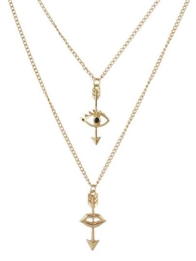 Double Layers Long Pendant Necklace
