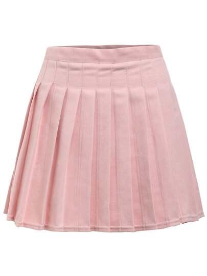 Box Pleat Mini Skirt