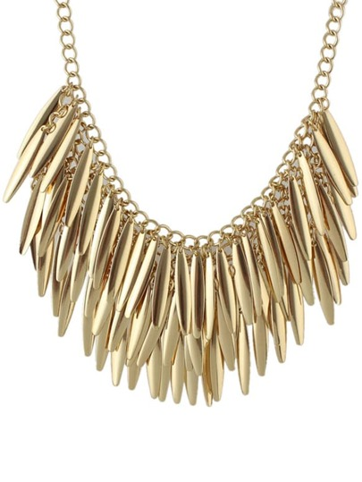 Punk Haning Spike Collar Necklace