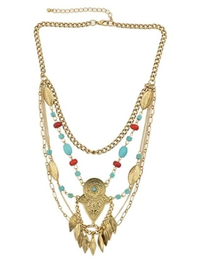Gold Multi-Layer Chain Statement Necklaces