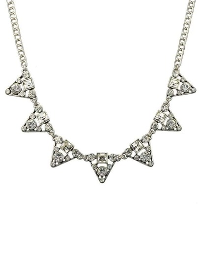 Rhinestone Triangle Collar Necklace