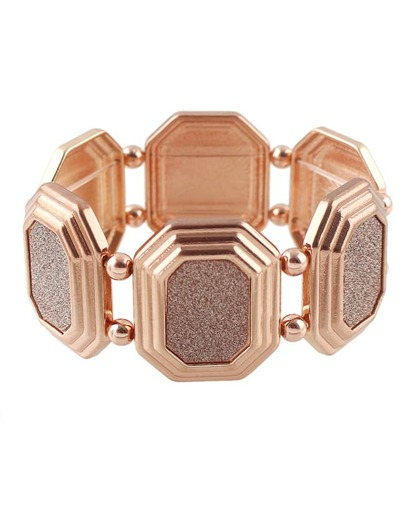 Rosegold Chunky Elastic Bracelet