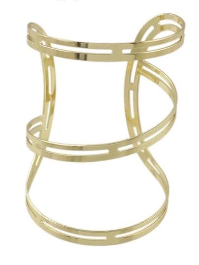 Gold Plated Oversized Cuff Bracelet
