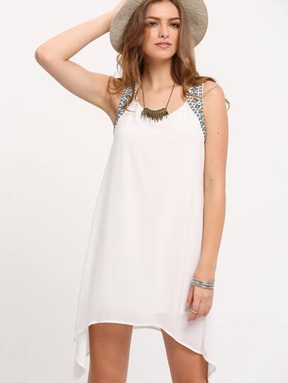 Beige Sleeveless Backless Irregular Dress