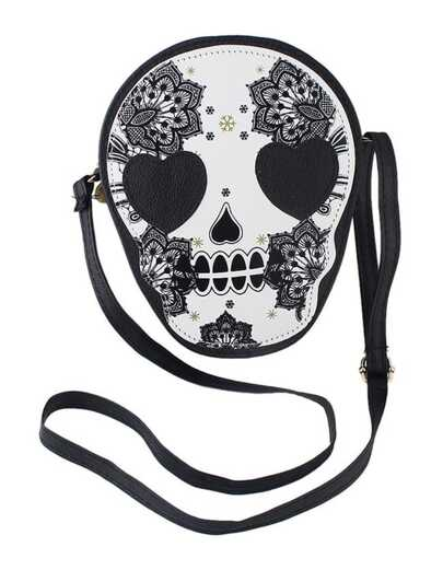 Cute Skull Printed Leather Shoulder Bag