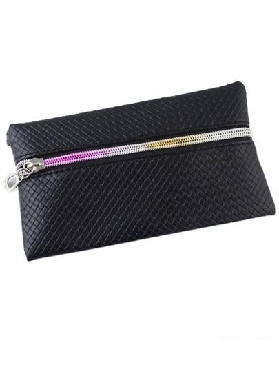 Black Pu Leather Clutch Bag