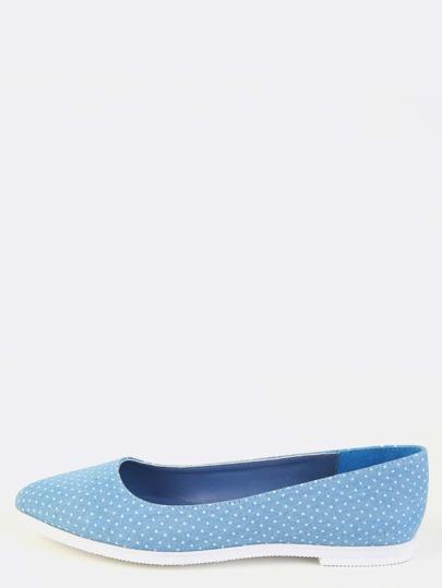 Denim Pointy Toe Flats BLUE DENIM