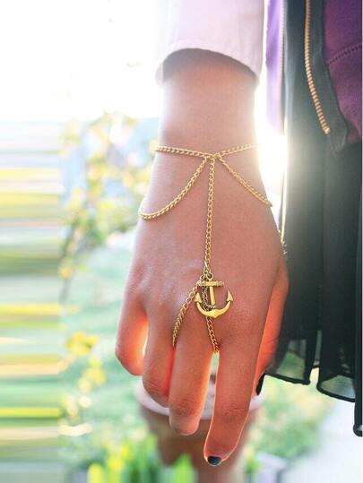 Anchor Tassel Hand Chain