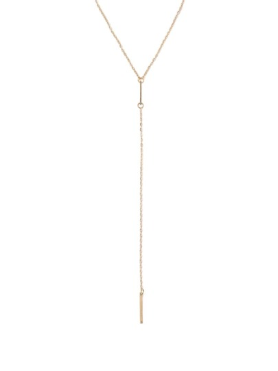 Gold Geomectric Linear Minimalist Necklace